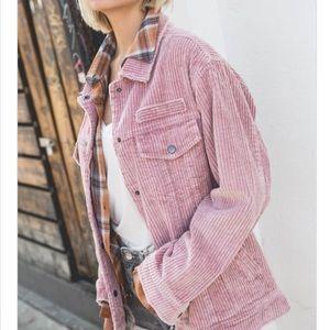 Blush Pink Corduroy Jacket